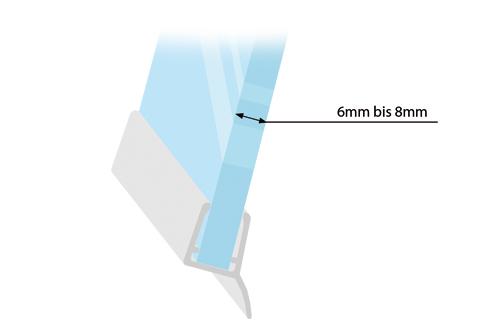 Duschdichtungen für Glasstärken von 6mm bis 8mm