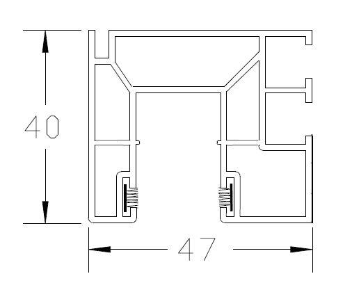 mit beidseitiger B/ürstendichtung in grau Fixl/änge 1000mm DIWARO Rolladen F/ührungsschiene aus Kunststoff weiss f/ür Maxi Rolladenprofile
