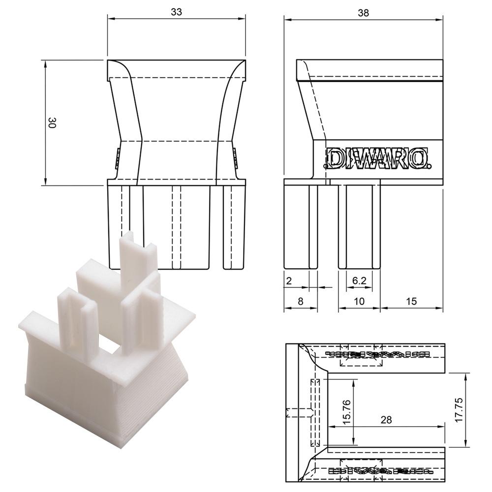 3D-Druck Einlauftrichter Messhilfe
