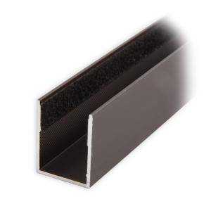 maxi aluminium f hrungsschiene 25 x 19 x 25 mm beflockt dunkelbronze eloxiert diwaro. Black Bedroom Furniture Sets. Home Design Ideas