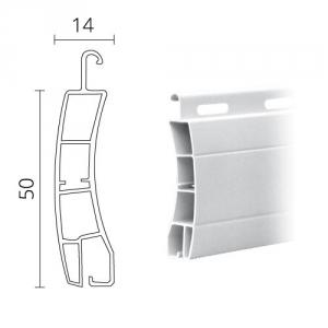 kunststoff rolladen 50 x 14 mm modell frankfurt diwaro. Black Bedroom Furniture Sets. Home Design Ideas