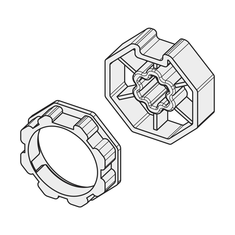 Mitnehmer Becker Adapterset für SW70 Adapter
