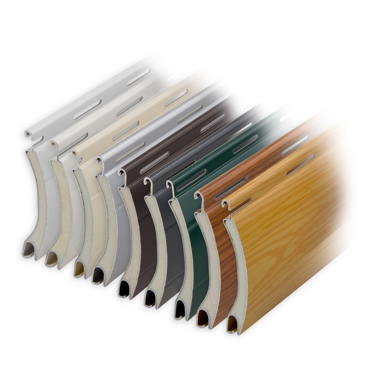 aluminium rolladen muster lamellen profil europa diwaro. Black Bedroom Furniture Sets. Home Design Ideas