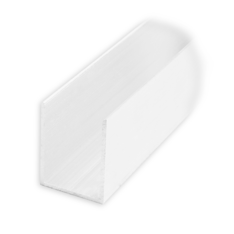 maxi aluminium f hrungsschiene 25 x 19 x 25 mm pressblank diwaro. Black Bedroom Furniture Sets. Home Design Ideas
