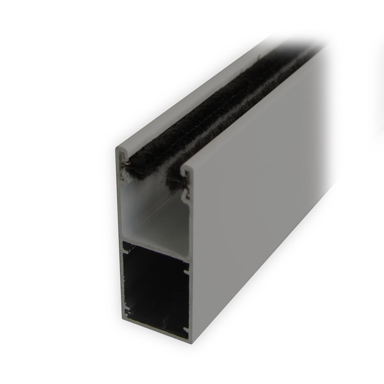 mini f hrungsschiene uh mit b rstendichtung grau lackiert diwaro. Black Bedroom Furniture Sets. Home Design Ideas