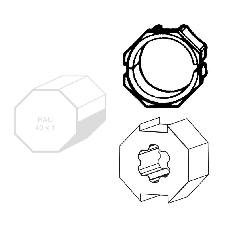 adapter mitnehmer f r achtkant stahlwelle sw 40 f r wellen ohne falz f r somfy antriebe. Black Bedroom Furniture Sets. Home Design Ideas