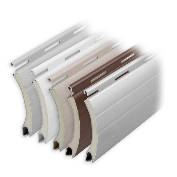 aluminium rolladen muster lamellen profil comet diwaro. Black Bedroom Furniture Sets. Home Design Ideas