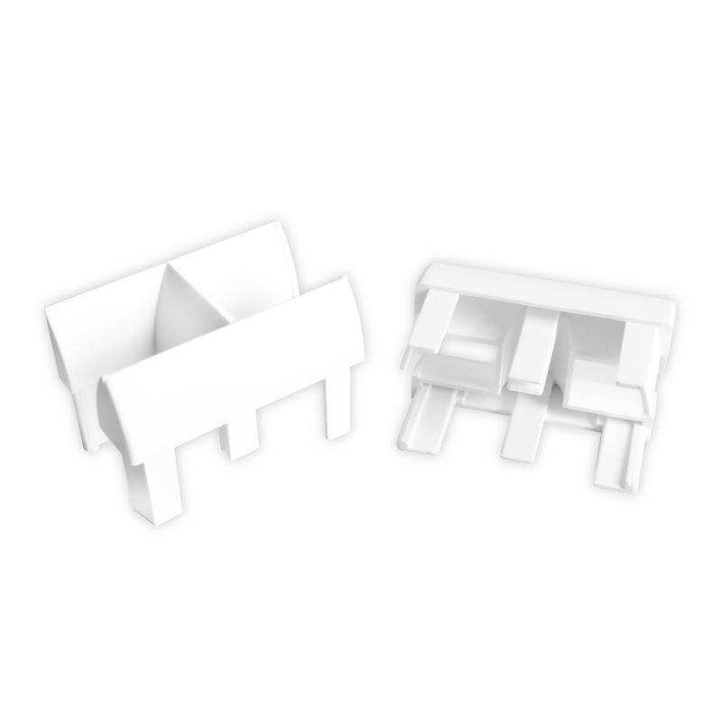 einlauftrichter f r kunststoff rolladen f hrungsschiene 939 wei diwaro. Black Bedroom Furniture Sets. Home Design Ideas