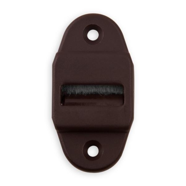 gurtf hrung mit rolle und b rste f r gurtband bis 23 mm breite kunststoff braun diwaro. Black Bedroom Furniture Sets. Home Design Ideas