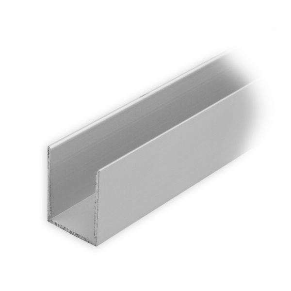 maxi aluminium f hrungsschiene 25 x 19 x 25 mm silber eloxiert diwaro. Black Bedroom Furniture Sets. Home Design Ideas