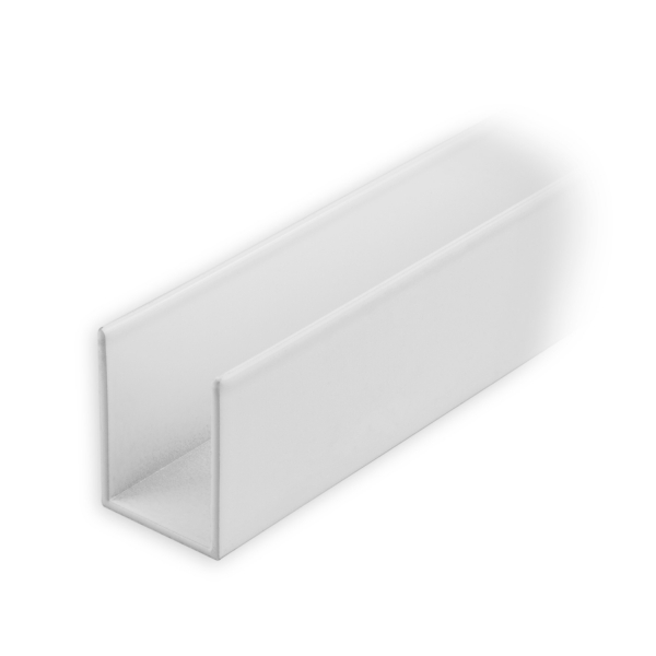 maxi aluminium f hrungsschiene 25 x 19 x 25 mm wei lackiert diwaro. Black Bedroom Furniture Sets. Home Design Ideas