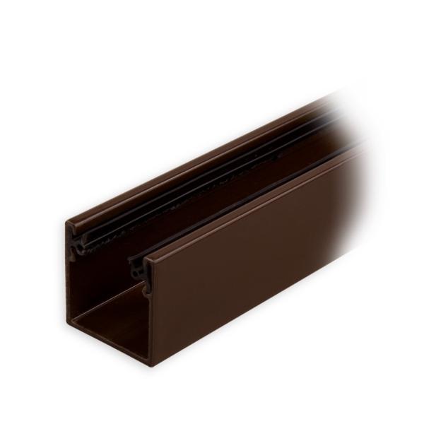 maxi aluminium f hrungsschiene 28 x 28 x 28 mm mit neopren einlage braun lackiert diwaro. Black Bedroom Furniture Sets. Home Design Ideas