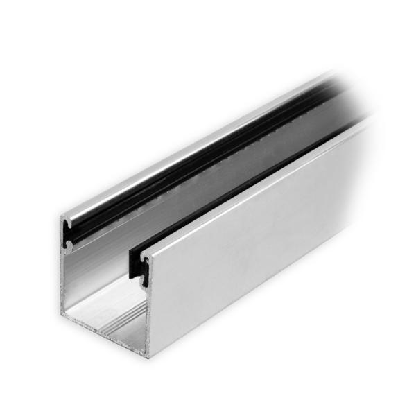 maxi aluminium f hrungsschiene 28 x 28 x 28 mm mit neopren einlage pressblank diwaro. Black Bedroom Furniture Sets. Home Design Ideas