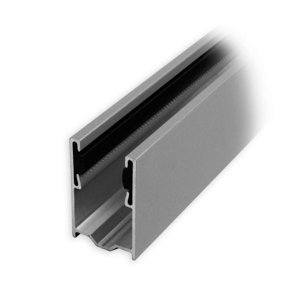 maxi aluminium f hrungsschiene 43 x 27 x 43 mm mit pvc einlage silber eloxiert diwaro. Black Bedroom Furniture Sets. Home Design Ideas