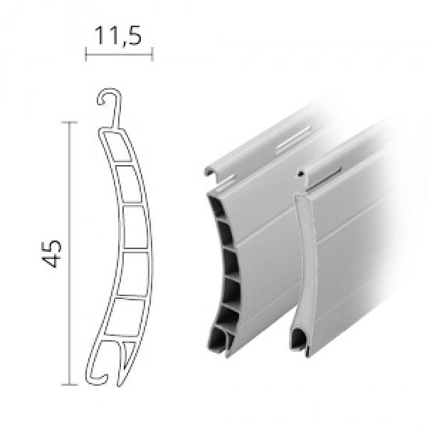 midi kombi rolladen rolladenpanzer kunststoff pvc aluminium 45x 11 5 mm modell br ssel. Black Bedroom Furniture Sets. Home Design Ideas
