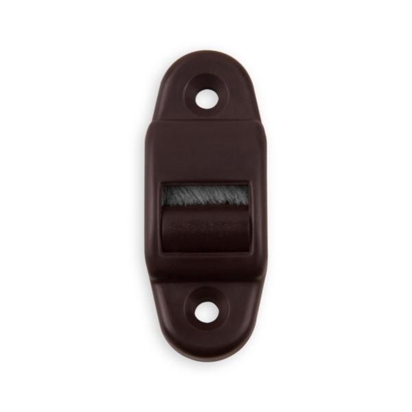 mini gurtf hrung mit rolle und b rste f r gurtband bis 18 mm breite kunststoff braun diwaro. Black Bedroom Furniture Sets. Home Design Ideas