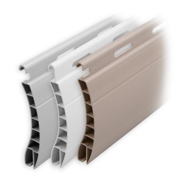 kunststoff rolladen muster lamellen profil aalen diwaro. Black Bedroom Furniture Sets. Home Design Ideas