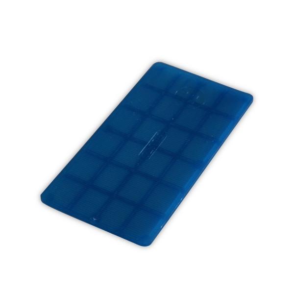 Verglasungsklotz 2 mm 100 x 50 mm kunststoff diwaro for Kunststoff fensterrahmen