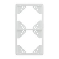 2-fach-Rahmen für senkrechte Montage   weiß