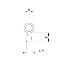 Einfräsdichtung EF010 | weiß | 8mm Schlauch (A) | 5 lfm