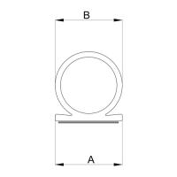 Selbstklebende-Dichtung SK010 | 7mm Schlauch (B) | weiß | 5 lfm