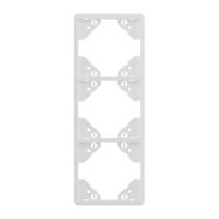 3-fach-Rahmen für senkrechte Montage   weiß