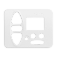 Abdeckplatte B-BA studioweiß | passend für Somfy Chronis Uno L comfort, Chronis IB L comfort