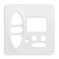 Abdeckplatte B-CD alpinweiß | passend für Somfy Chronis Uno L comfort, Chronis IB L comfort