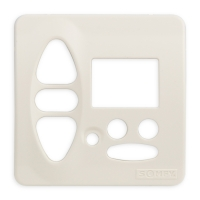 Abdeckplatte B-CD cremeweiß matt | passend für Somfy Chronis Uno L comfort, Chronis IB L comfort