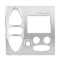 Abdeckplatte B-GI Alu-Optik | passend für Somfy Chronis Uno L comfort, Chronis IB L comfort