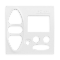 Abdeckplatte B-GI polarweiß matt | passend für Somfy Chronis Uno L comfort, Chronis IB L comfort