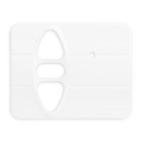 Abdeckplatte H-BA studioweiß matt | passend für Somfy Inis Uno comfort, Inis Uno comfort VB