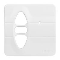 Abdeckplatte H-CD alpinweiß matt | passend für Somfy Inis Uno comfort, Inis Uno comfort VB