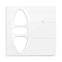 Abdeckplatte H-GI polarweiß hochglanz | passend für Somfy Inis Uno comfort, Inis Uno comfort VB