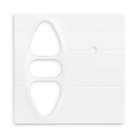 Abdeckplatte H-GI polarweiß matt | passend für Somfy Inis Uno comfort, Inis Uno comfort VB