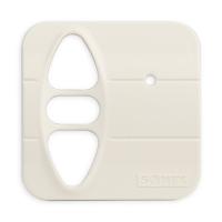 Abdeckplatte H-SI cremeweiß matt | passend für Somfy Inis Uno comfort, Inis Uno comfort VB