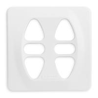 Abdeckplatte I-CD alpinweiß matt | passend für Somfy Inis Duo, Inis Duo VB
