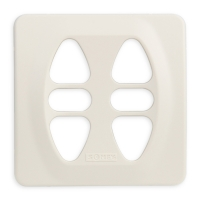 Abdeckplatte I-CD cremeweiß matt | passend für Somfy Inis Duo, Inis Duo VB