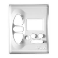 Abdeckplatte inteoweiß matt | passend für Somfy Chronis Uno L comfort, Chronis IB L comfort