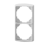 Abdeckrahmen inteo weiß | 2-fach | passend für Somfy Schalter, Taster, Zeitschaltuhren
