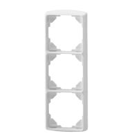 Abdeckrahmen inteo weiß | 3-fach | passend für Somfy Schalter, Taster, Zeitschaltuhren