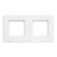 Abdeckrahmen Pure (reinweiß) | 2-fach | passend für Smoove Schalter, Taster & Wandsender