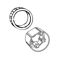 Adapter-Mitnehmer für 70 mm Rundwelle 70x1,5 | für Somfy Antriebe Baureihe 60