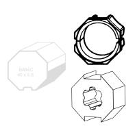 Adapter-Mitnehmer für Achtkant-Stahlwelle SW 40 für Wellen mit Innenfalz | für Somfy Antriebe Baureihe 40