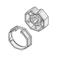 Adapter-Mitnehmer für Achtkant-Stahlwelle SW 50 | für Becker Antriebe Serie R