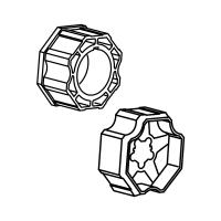 Adapter-Mitnehmer für Achtkant-Stahlwelle SW 70 | für Somfy Antriebe Baureihe 60