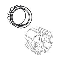 Adapter-Mitnehmer für Rundwelle mit Flachnut DS 78 | für Somfy Antriebe Baureihe 60
