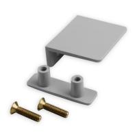 Anschlagwinkel Kunststoff | außen verschraubbar | grau