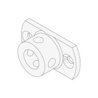 Anschlussteil 20 mm | Rund | passend für Antriebe der Serie P