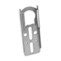 Anschraublager Ø 40 mm aus Metall | flach - verzinkt | mit Sicherungskrallen